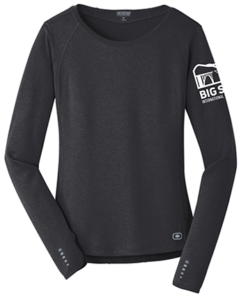 Big Sur Marathon Long-Sleeve Women's Endurance Tee, Blacktop - BSIM Store
