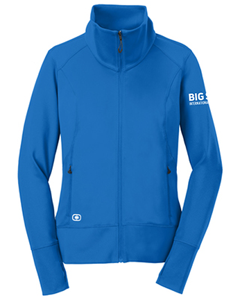 Big Sur Marathon Women's Fulcrum Full-Zip, Electric Blue - BSIM Store