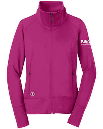 Big Sur Marathon Women's Fulcrum Full-Zip, Flush Pink - BSIM Store