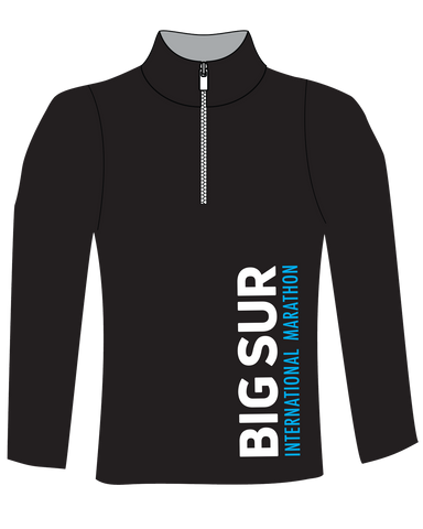 Big Sur International Marathon Women's Technical 1/4 Zip, Black - BSIM Store