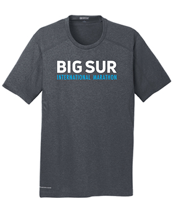 Big Sur Marathon Men's Endurance Pulse Short Sleeve Crew, Grey - BSIM Store