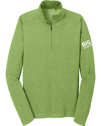Big Sur Marathon Men's 1/4 Zip, Green Energy - BSIM Store