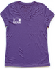 Big Sur Marathon Women's Short Sleeve 100% Recycled Sport V, Heather Purple - BSIM Store