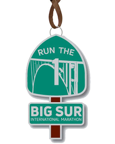 Big Sur Marathon Run The 1 Ornament, Metal - BSIM Store