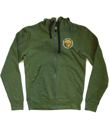 Big Sur International Marathon Unisex Zip Hoodie, Grass - BSIM Store