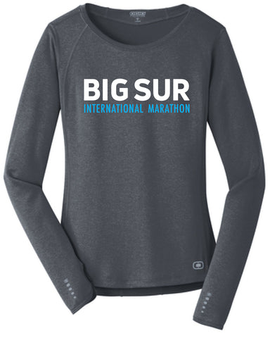 Big Sur Marathon Long-Sleeve Women's Endurance Tee, Gear Grey - BSIM Store