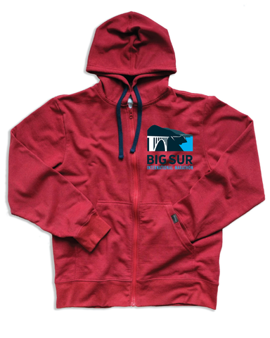 Big Sur International Marathon Unisex Zip Hoodie, Phoenix - BSIM Store