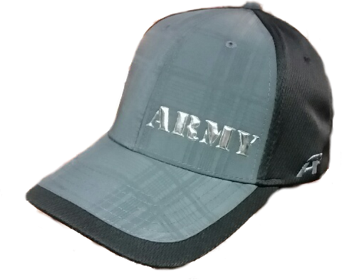 Black and Chrome Army Hat