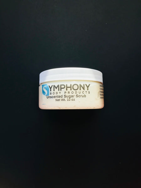 Unscented Sugar Scrub - Symphony Body Products