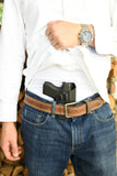 Glock 43 Insider Contender No Belt CCW for sweat pants and athletic wear.