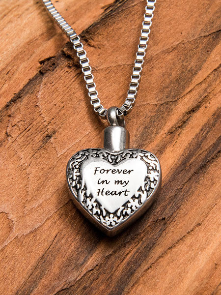 Pet memorial jewelry stainless steel cremation urn and funnel forever in my heart necklace solutioingenieria Choice Image