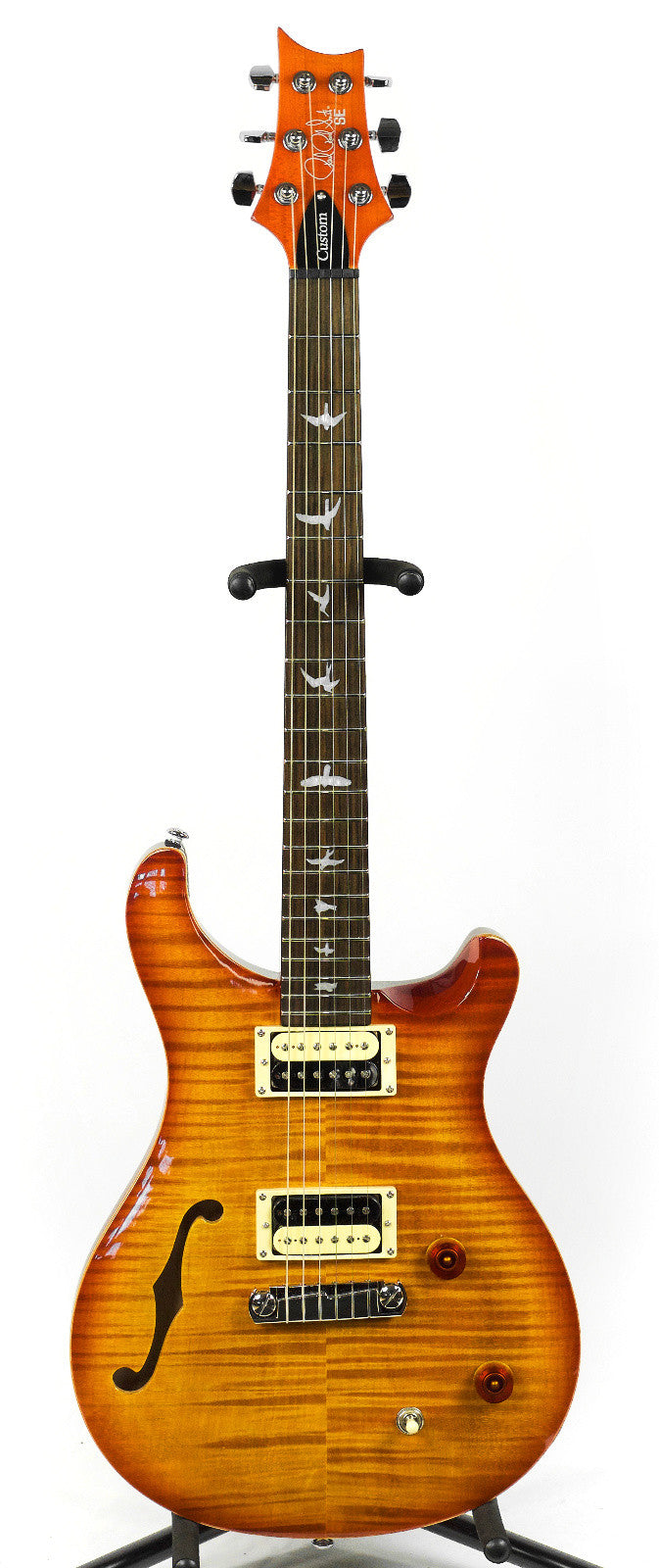 PRS SE Custom 22 Semi-Hollow Vintage Sunburst Electric Guitar