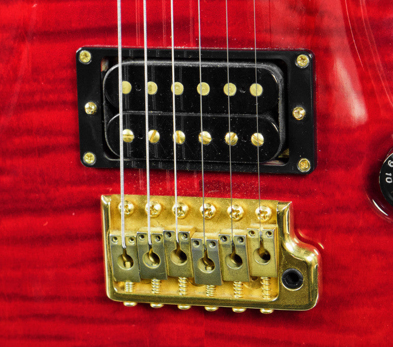 (Used) 1996 PRS Custom 24 10-top Ruby Red Electric Guitar