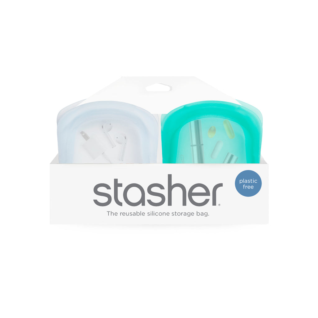 Reusable Silicone Pocket-Size - 2 Pack Bundle