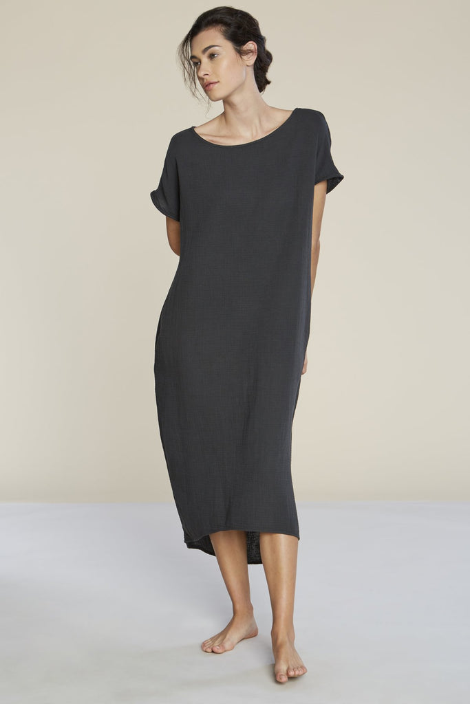 Brooke Cotton Dress - Black