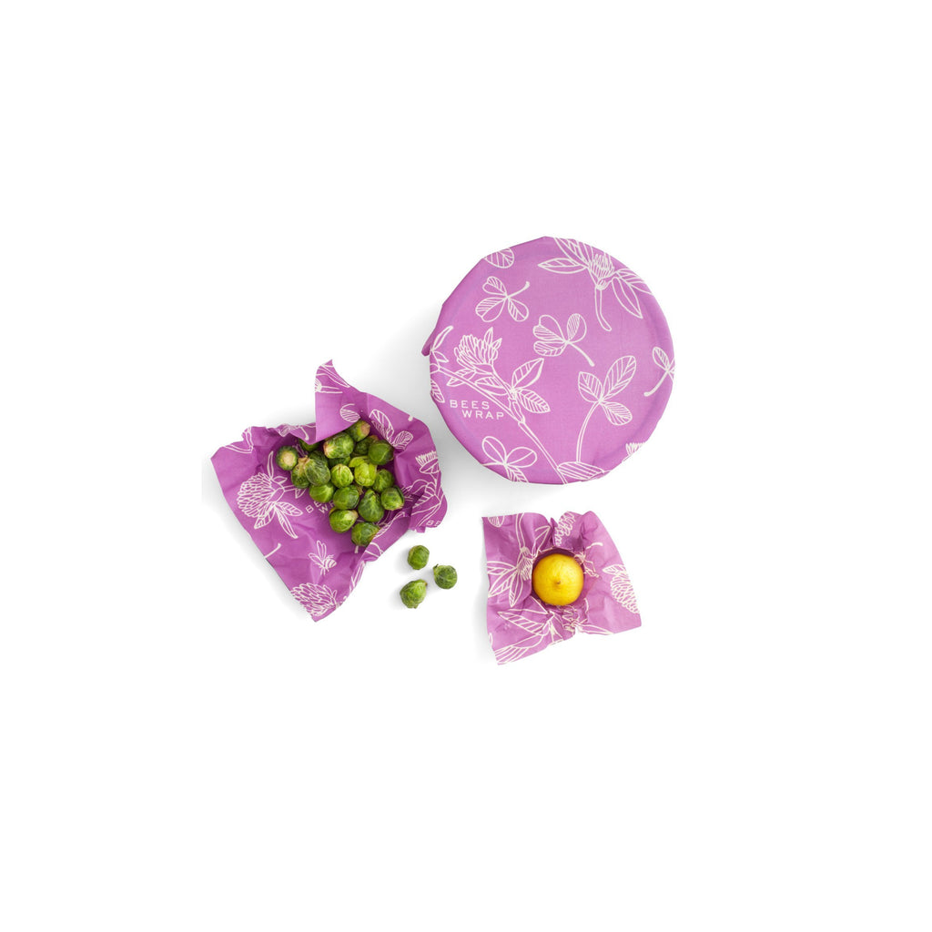 Bee's Wrap Clover Assorted Set of 3 Sizes (S,M,L)