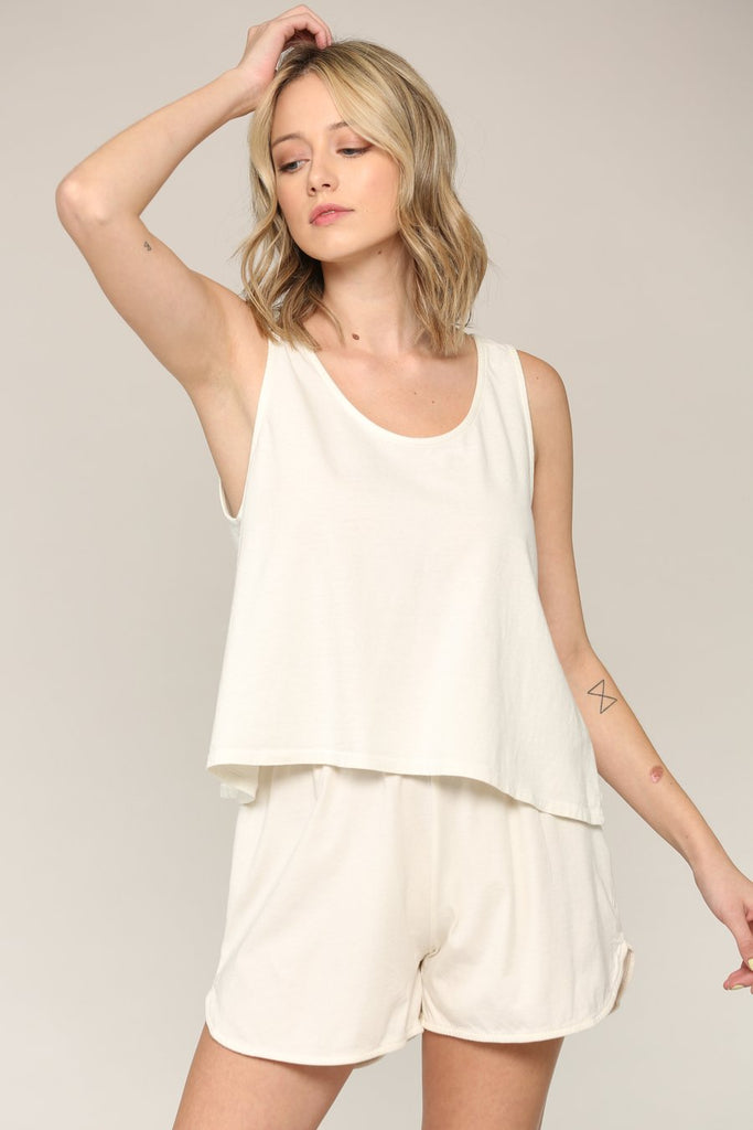 30's Flowy Top - Cloud