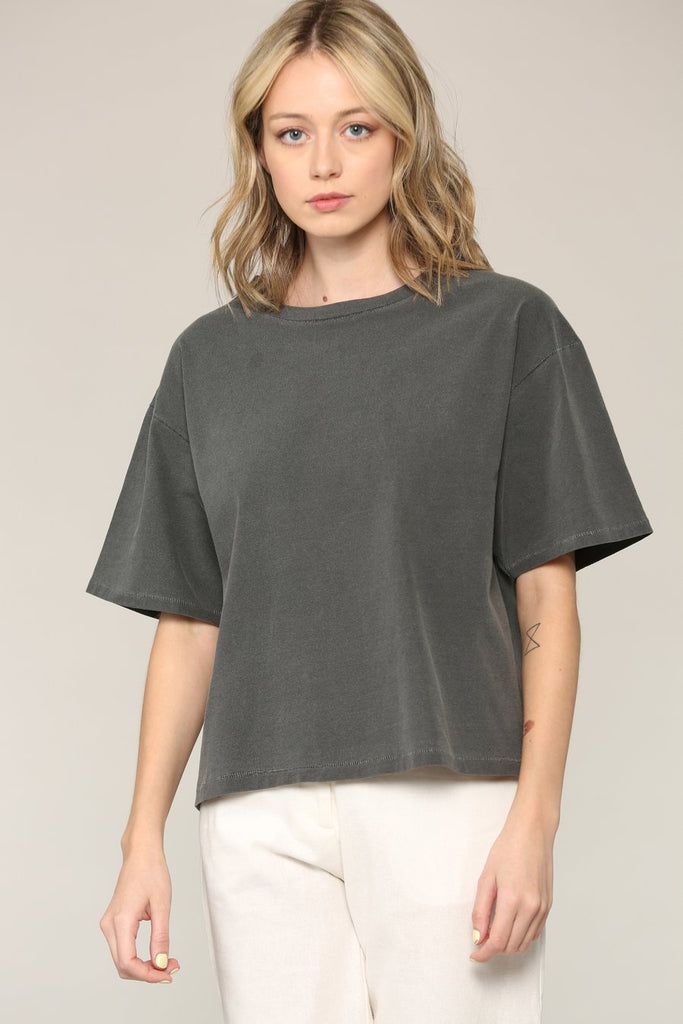 Jade Crop Top - Grey