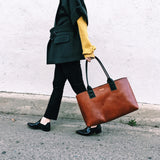 PRE-ORDER COMMUTER TOTE - HICKORY