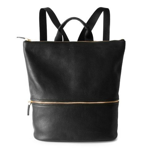 LEATHER BACKPACK - BLACK HAIRCALF