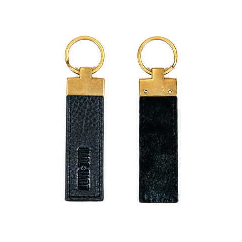 KEY FOB - BLACK HAIRCALF