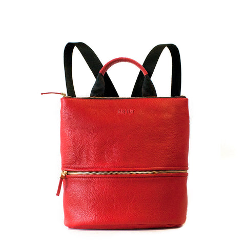 MINI LEATHER BACKPACK - FLAME