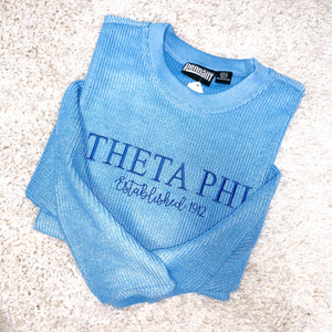 Sorority Cord Crewneck Embroidered Sweatshirt