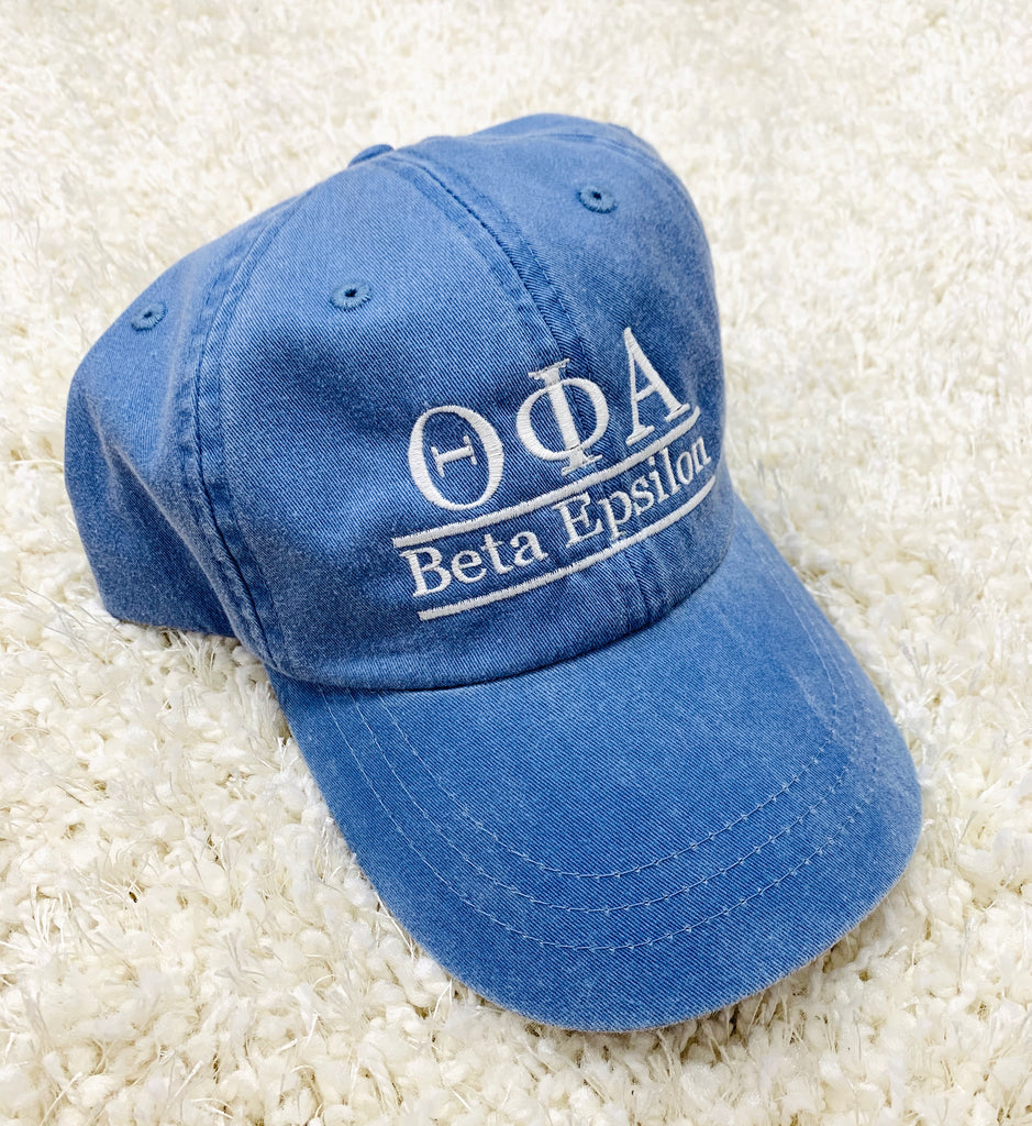 Denim Embroidered Sorority Hat