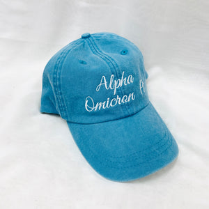 Script Embroidered Sorority Hats