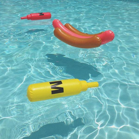 Ketchup and Mustard Hot Dog Pool Float