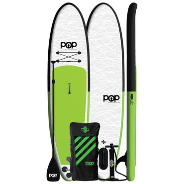 11'0″ Inflatable POP Paddle Board - Green & Black - LiquidWild