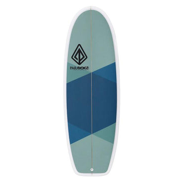 "5'4"" Mini Simmons Paragon Surfboard Blue & Green Arygle - LiquidWild"