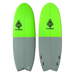 "5'4"" Mini Simmons Paragon Shortboard Surfboard Gray & Green - LiquidWild"