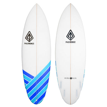 6'0 Hobgoblin Paragon Shortboard Surfboard - Blue Stripes - LiquidWild