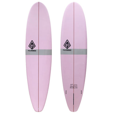 7'8 Mini Log Paragon Longboard Surfboard Pink & Grey - LiquidWild