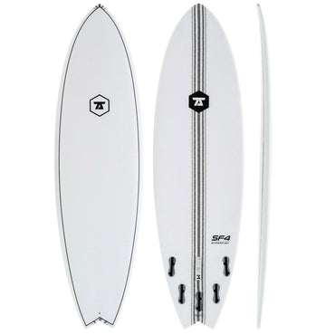7S Super Fish 4 - White Surfboard IM - LiquidWild