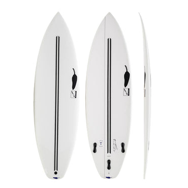 Chilli Hot Knife - Twin Tech Shortboard Surfboard (White)