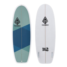 "5'4"" Mini Simmons Paragon Shortboard Surfboard Blue & Green Argyle - LiquidWild"