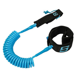 SurfStow Paddle Board SUP Leash - Coiled Ankle - 10' - Seafoam - LiquidWild