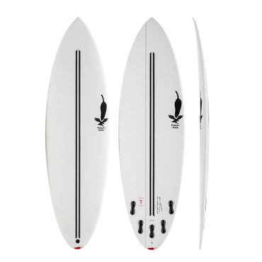 Chilli Rarest Bird – Twin Tech Shortboard Surfboard (White)