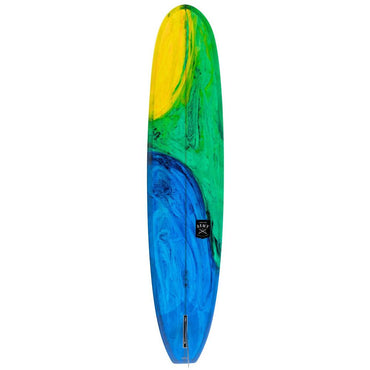Creative Army Seahorse Single Fin Longboard Surfboard – Green Art - LiquidWild