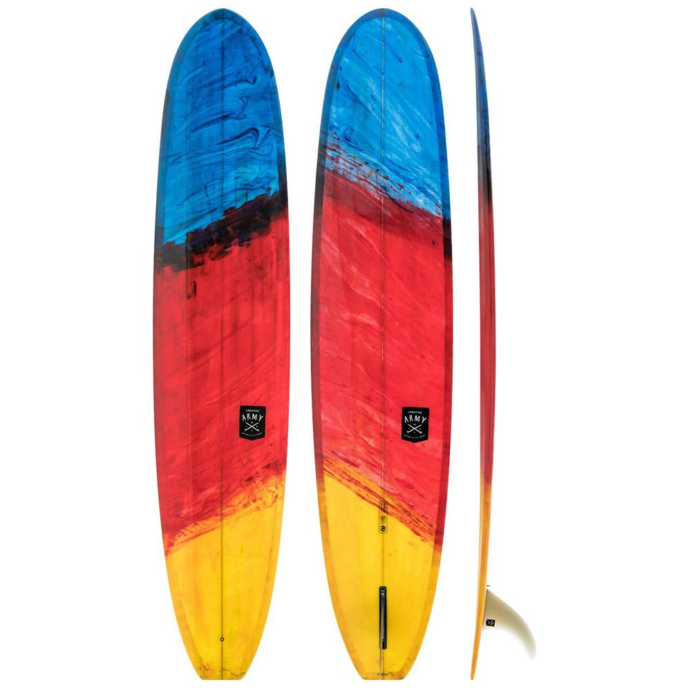 Creative Army Seahorse Single Fin Longboard Surfboard – Red Art - LiquidWild