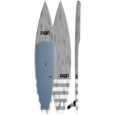Model Especial 12'6″ Touring POP Paddle Board - Grey - LiquidWild