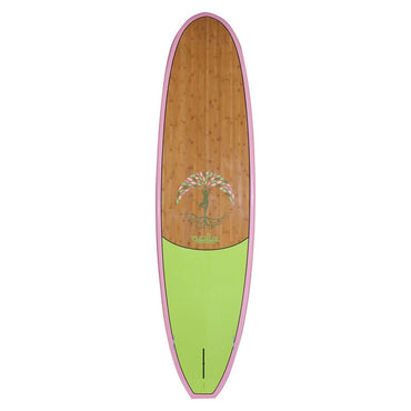 Evolve Roots Yoga Paddle Board SUP Blue Rail With Lime Cork Pad - LiquidWild