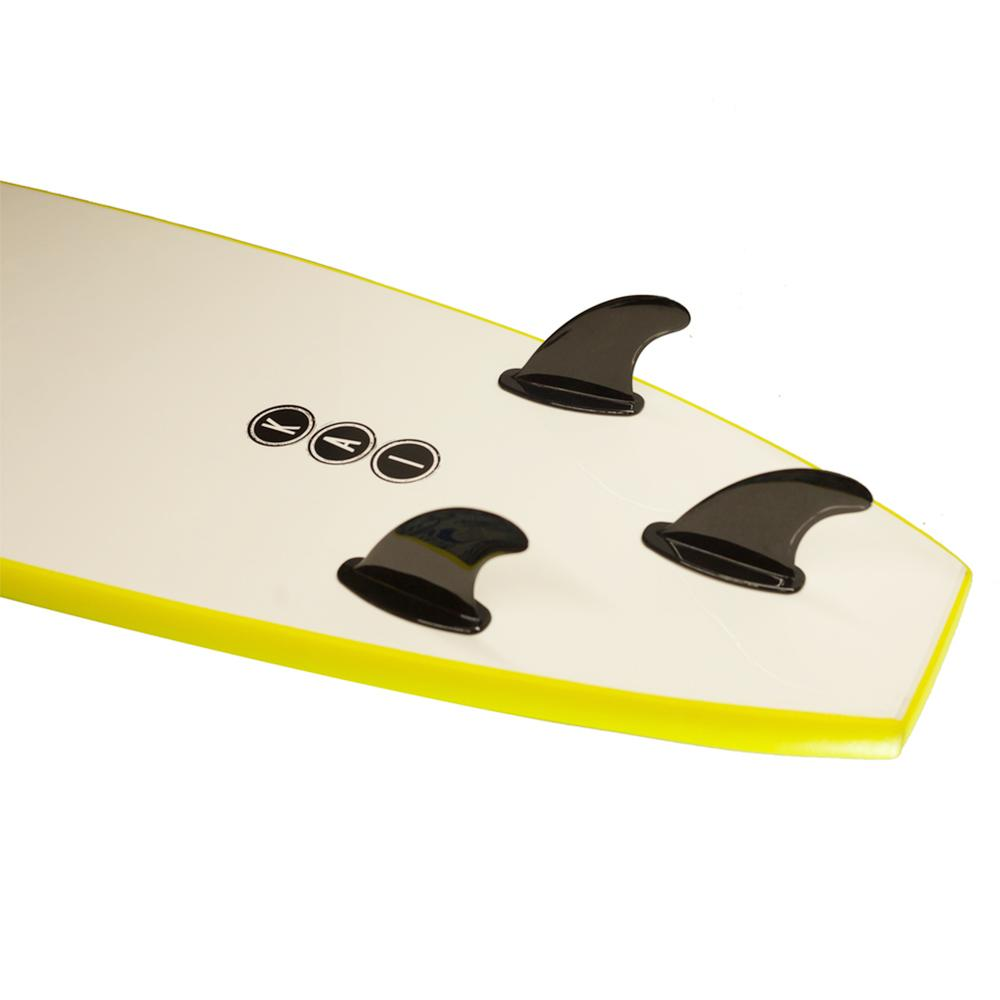 Kai Soft Surfboard New Model 8' Yellow - LiquidWild