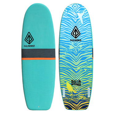 5'4 Mini Simmons Foam Surfboard - Soft Lightweight Shortboard Paragon - LiquidWild