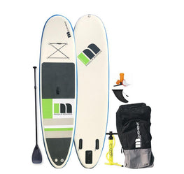 Movement Inflatable Paddle Board Blue & White With Roller Bag, Patch Kit, Fin - LiquidWild