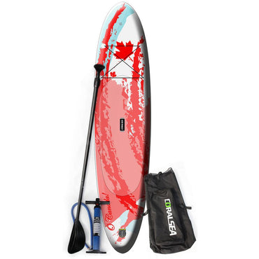Coral Sea Patriot SUP Inflatable Paddle Board - Canadian Flag 11' - LiquidWild