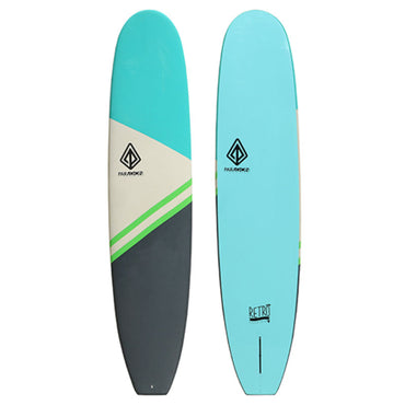9'0 Retro Noserider Paragon Foam Surfboard - Soft Top Surfboard - LiquidWild