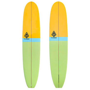 9'0 Retro Noserider Longboard Surfboard Paragon - Orange & Green - LiquidWild